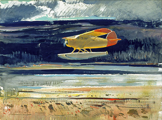 J. B. Taylor - Float Plane, 1960, Oil on masonite, 46 x 61 cm.