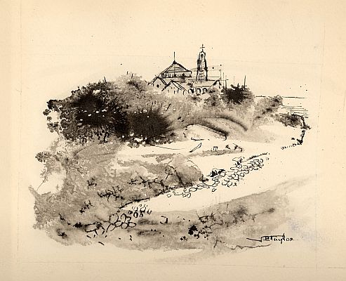 J. B. Taylor - Untitled, 1956, Ink on paper, 16 x 19 cm.