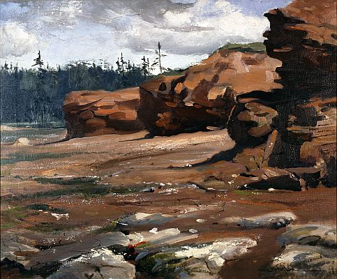 J. B. Taylor - Red Banks, P.E.I., 1951, Oil on canvas, 63.2 x 73 cm.