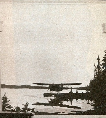 J. B. Taylor - Mural of Norseman aircraft on Watson Lake, in Officer's Lounge, North West Air Command, Edmonton. 1945.